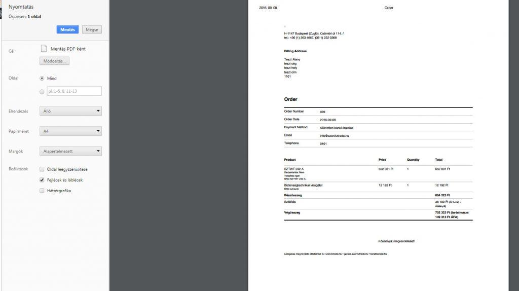 megrendelés nyomtatása-PDF